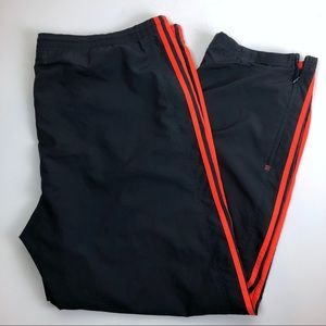 adidas nylon triple stripe running pants Size 2XL